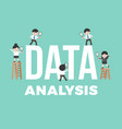business people with word data analysis data vector image