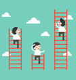 businessman climbing on ladder competition vector image
