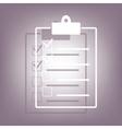 Checklist icon with shadow vector image vector image