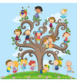 Children and tree vector image