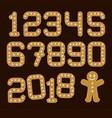 christmas gingerbread numbers gingerman vector image vector image