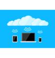 Cloud computing gadgets vector image