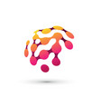 color brain logo vector image