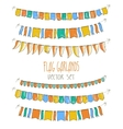 Colorful flag garlands on