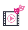 countdown strip and masks production movie film vector image vector image