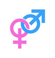 couple gender signs icons masculine and vector image