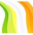 creative flag of ireland vector image vector image