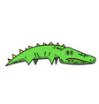 crocodile cartoon hand drawn image vector image vector image
