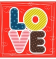 Cute greeting card for Happy Valentine S Day vector image vector image