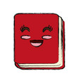 cute notebook cartoon vector image