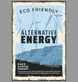 eco friendly alternative energy power generation vector image vector image