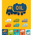 Flat design transportation of oil vector image