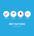 flat icon device set of repair recipient vector image vector image