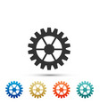 gear icon on white background cogwheel sign vector image