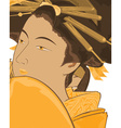 Geisha girl design vector image vector image