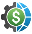 Global Industry Gradient Icon vector image