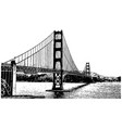golden gate bridge san francisco california vector image
