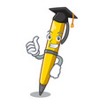 graduation pen can be used for mascot vector image