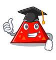 graduation triangel character cartoon style vector image