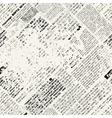 grunge newspaper vector image vector image
