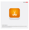 halloween scissors icon orange abstract web button vector image