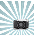 hipster camera on grunge background vector image vector image