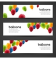 Holiday birthday horizontal banners set with vector image