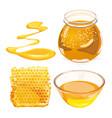 honey in honeycombs in jar vector image vector image