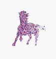 icon of running horse icon of running horse vector image