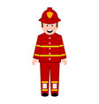 isolated male firefighter icon vector image