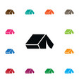 isolated outdoor icon tent element can be vector image vector image