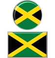 Jamaican round and square icon flag vector image