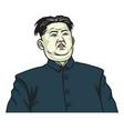 kim jong un portrait cartoon vector image vector image
