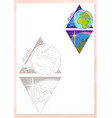 landscape of planet rhombus earth vector image vector image