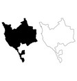 makkah region map vector image vector image