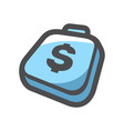 money bag cache suitcase cartoon vector image