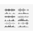 Radio frequency digital waves forms vector image vector image