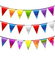 Rainbow Bunting Banner Garland vector image