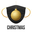 realistic gold christmas ball with medical vector image