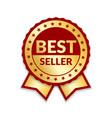 ribbon award best seller gold award icon vector image vector image