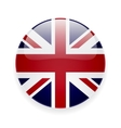 round icon with flag uk vector image
