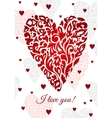 Saint valentines greeting card vector image vector image