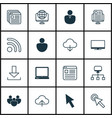 set of 16 world wide web icons includes display