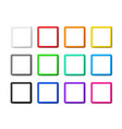 set square frames with shadows vector image vector image