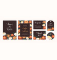 set wedding invitation cards with autumn vector image vector image