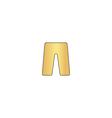 shorts computer symbol vector image