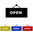 signboard open icon vector image vector image