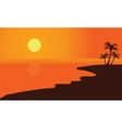 Silhouette of summer beach vector image vector image