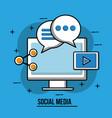 social media image vector image vector image