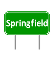 Springfield green road sign vector image vector image